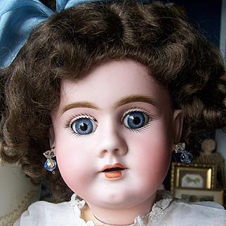 "Gorgeous 19"" Heinrich Handwerck 99 DEP German Bisque Head Antique Doll. Head by Simon & Halbig. Display Ready"