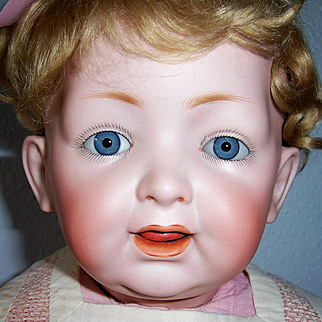 "ON SALE 20"" JD Kestner 226 Character Baby w Wobble Tongue. Exceptional facial modeling on this Darling Doll. Display Ready"