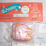 "Premier Co. Tiny Ballerina Slippers Shoes 1 5/8 x 1/2"" Size 10-11 for Alexander Vogue Ginny Muffie (B8)"
