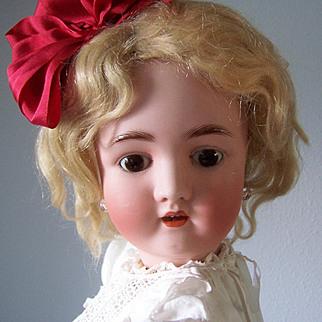 "23"" Antique German Alt, Beck & Gottschalk Co Bisque Head Doll. Display Ready. Adorable!"
