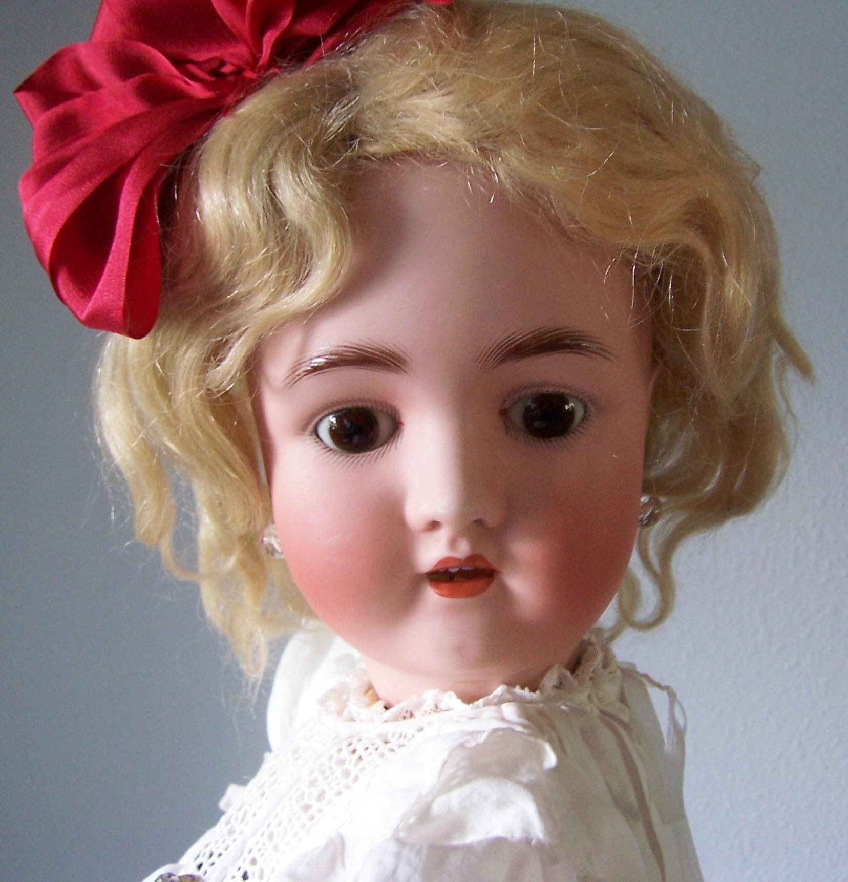 "23"" Antique German Alt, Beck & Gottschalk Co Bisque Head Doll. Display Ready. Adorable!"