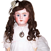 "ON SALE Wig, Antique German Brunette Human Hair. Long 15"" Tootsie Curls for 12"" to 14"" Doll Head."