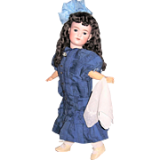 "25"" Antique German Bisque Head Doll on Orig Compo Body. George Borgfeldt. Display Ready"