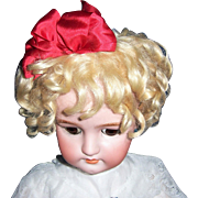 "ON SALE Antique Blonde Mohair Doll Wig 11""-12"" for German or French Bisque Head Dolls. Gorgeous - Red Tag Sale Item"