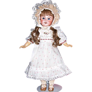 "Smiling 18"" SFBJ 301 Paris 7 Antique French Doll on Orig Body w Orig. HH Wig. A Sweetheart!"