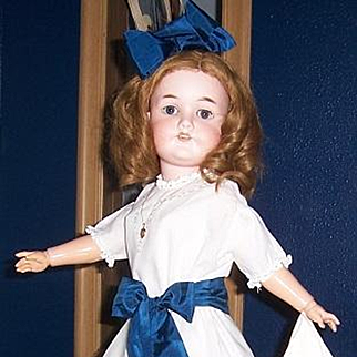 "26"" CM Bergmann Simon Halbig Antique German Bisque Head Doll. Mold 1916. Display Ready."