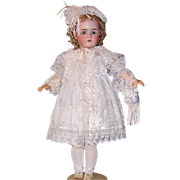 5 Pc Lavish Silk / Lace Doll Dress, Slip, Pantaloons, Bonnet, Purse. Seamstress Made, Pale Blue