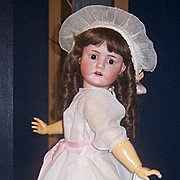 "28"" Antique German Doll Max Handwerck Bebe Elite. Bisque head by Goebel. Display Ready. AS IS"