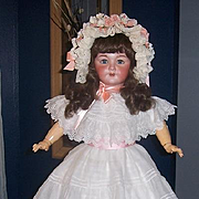 French Bisque Head Doll 26 in. Tall. Big Beautiful Paris Bebe by S.F.B.J. Marked Unis 301 Display Ready