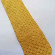 GIORGIO ARMANI  Khaki Rust Mini Foulard Bias Print Silk Tie