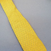 GIORGIO ARMANI  Yellow with Navy Pin Dot Jacquard Silk Tie