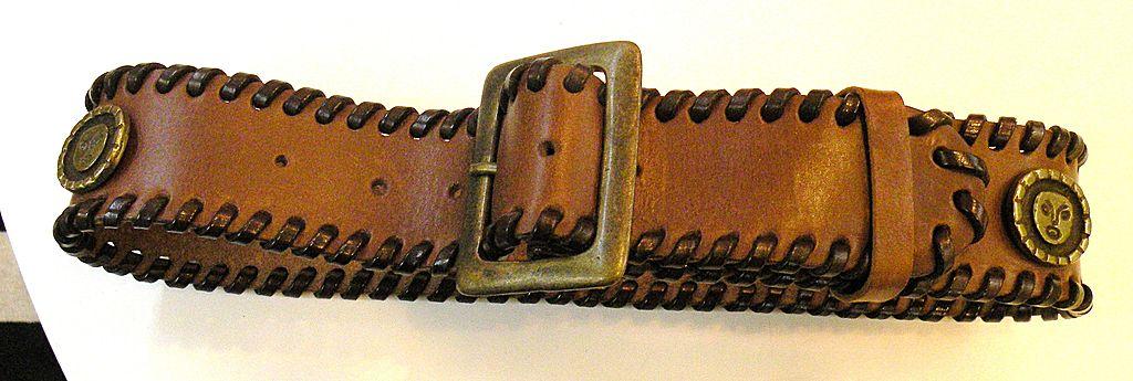 DOLCE & GABBANA Sun Disc Coin Leather Belt