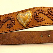 Passementrie and Heart Detailed Western Belt