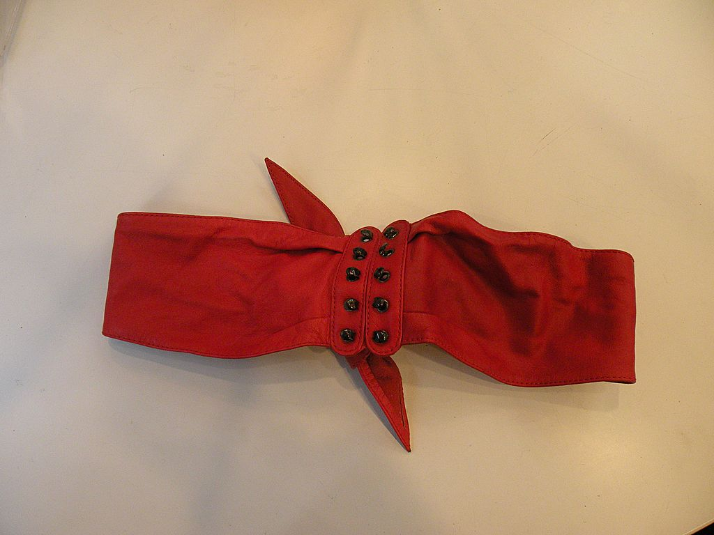 Red Soft as Butter Leather Tie Belt
