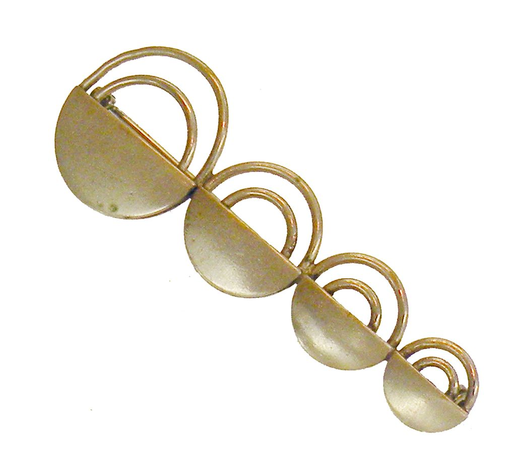 Stark Modernist Space Age Circle Brooch
