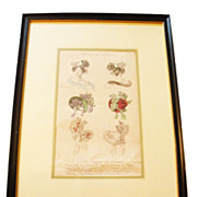 Modes De Paris Milliner's Hat Advertising Sketch-Matted and Framed