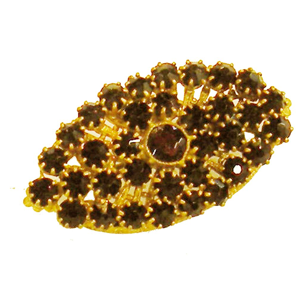 Very Old Garnet Beauty of a Brooch