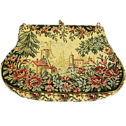 JOLLES Original Scenic Tapestry Purse - Red Tag Sale Item