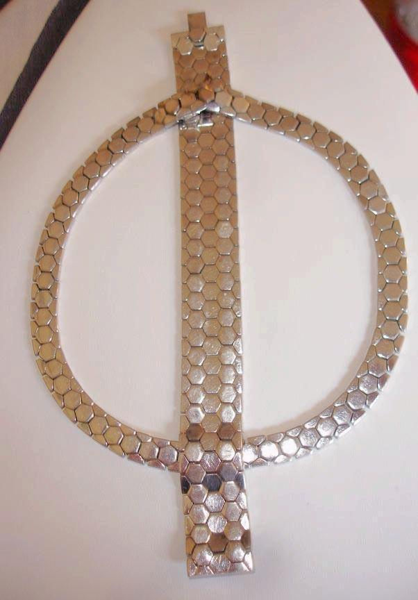 My Favorite Trifari Snake Chain Necklace and Bracelet Set 1940's