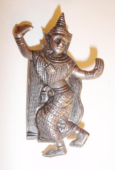 Siam Sterling Native Dancer Brooch