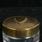 Clear Glass Pill Box with Art Deco Lid