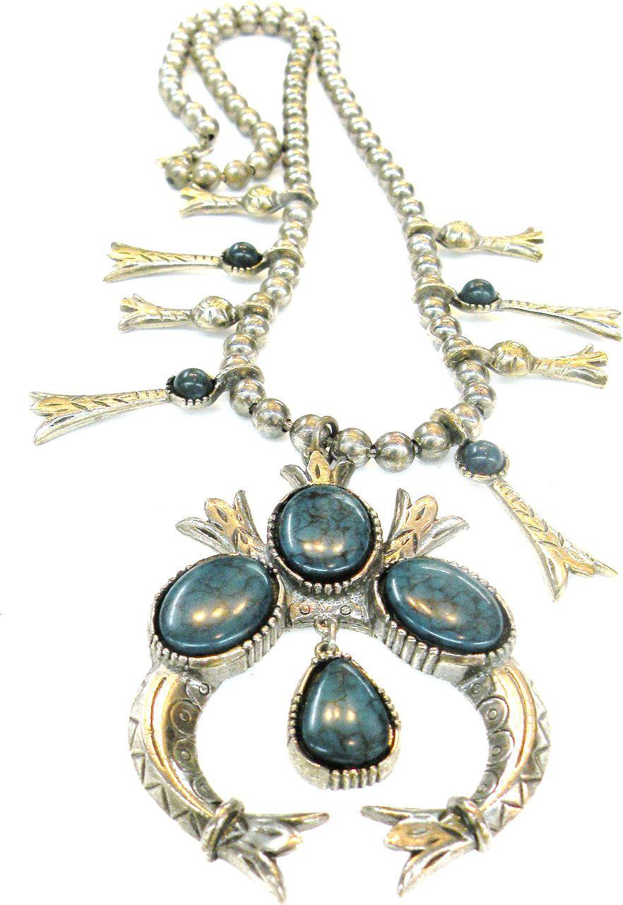 ART Imitation Squash Blossom Necklace