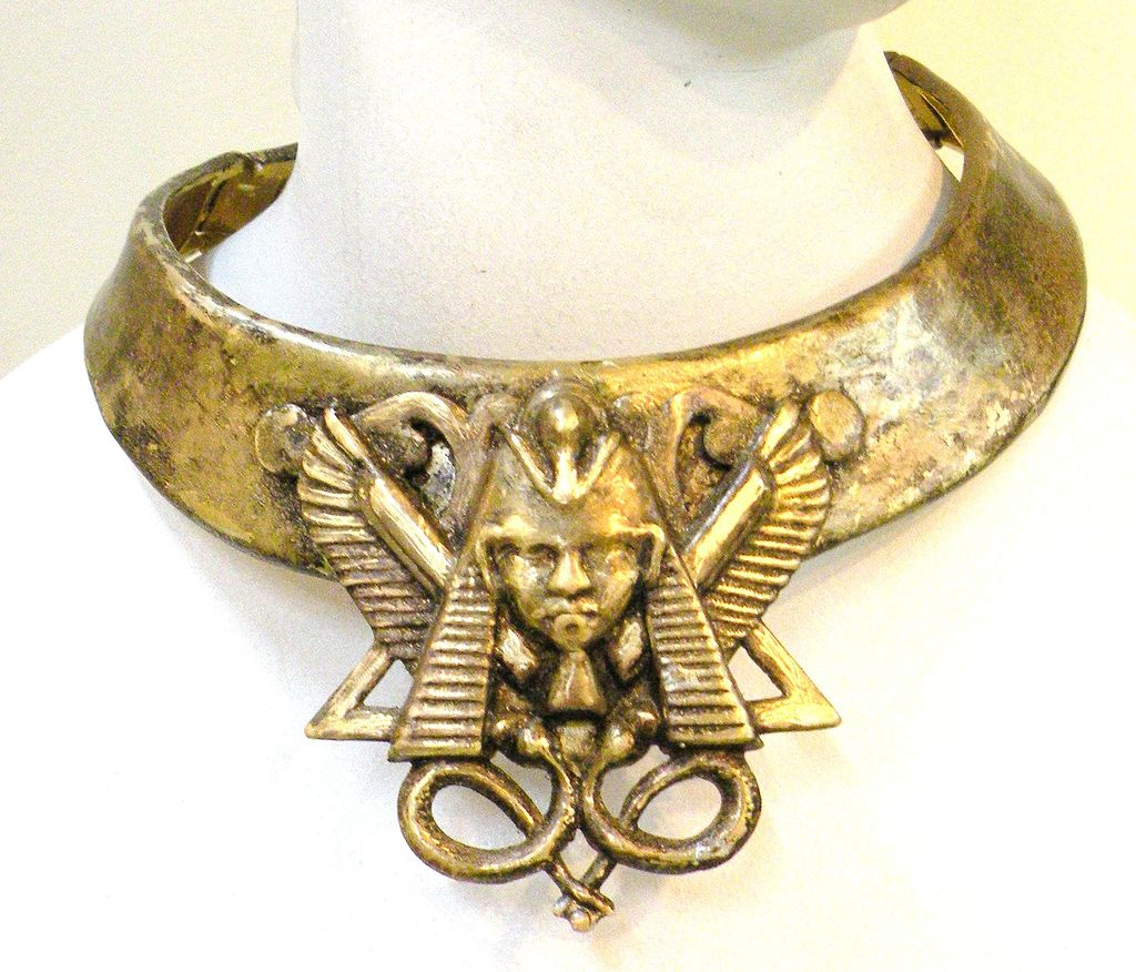 Double Hinged Collar Egyptian Revival Pharaoh Necklace