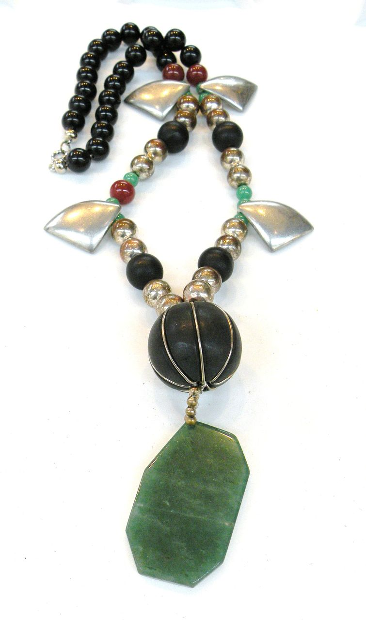 ALEXIS KIRK Mixed Media Semi Precious Stone and Bead Necklace