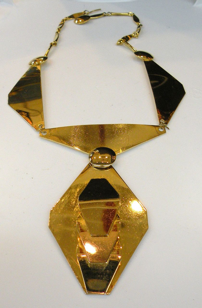 Modernist Sculptural Space Age Segmented Necklace