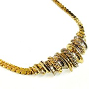 ORENA PARIS Mixed Metal Braided Effect Collar Necklace