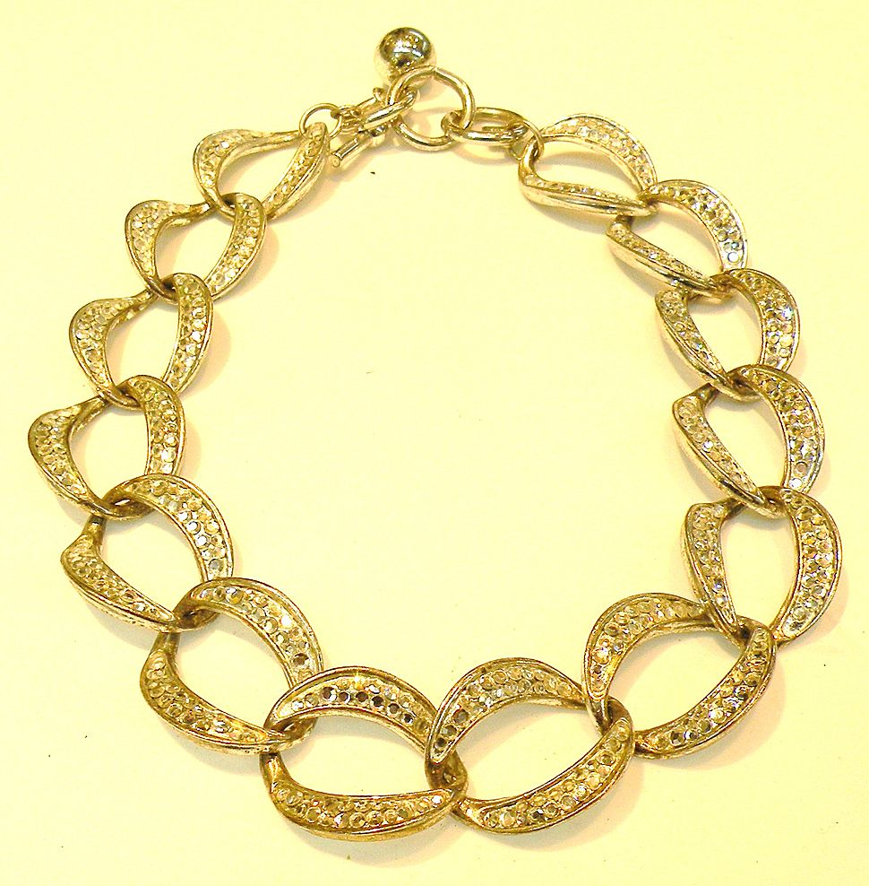 ANNE KLEIN Sparkling Pave Set Link Necklace