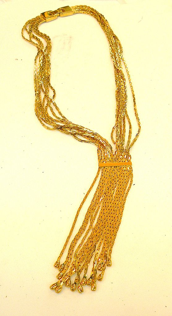 GIVENCHY 1979 Fabulous Fringe Feminine Necklace
