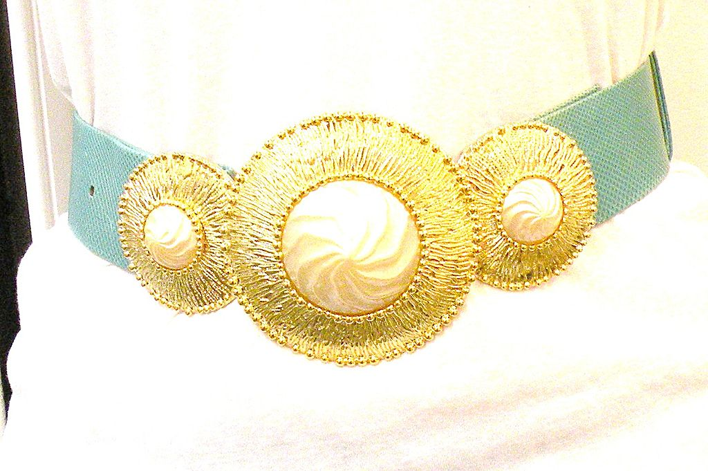 Alexis Kirk Etruscan Revival Three Part Belt Buckle With