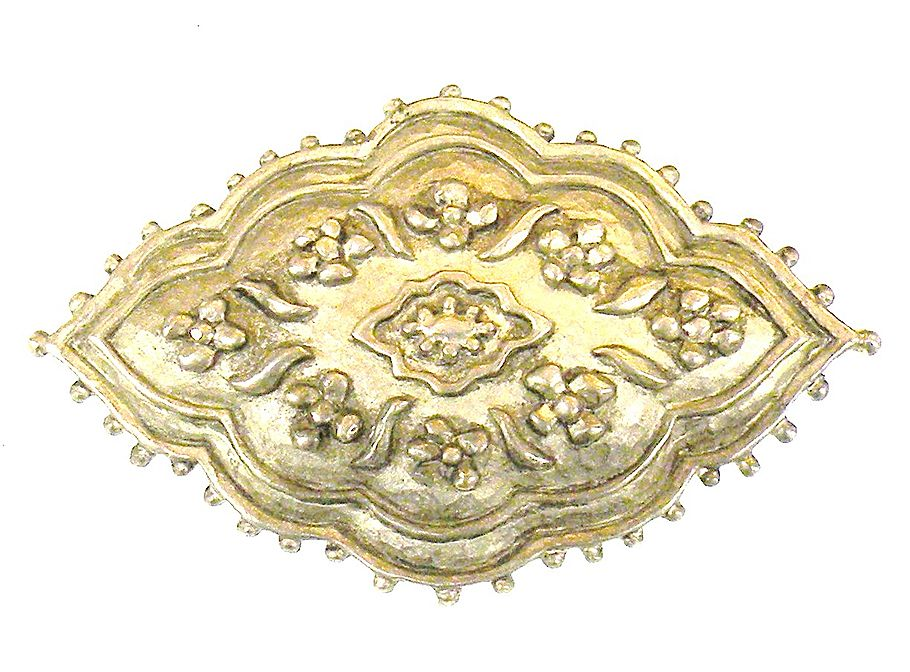 KARL LAGERFELD Pewter Color Etruscan Revival Brooch