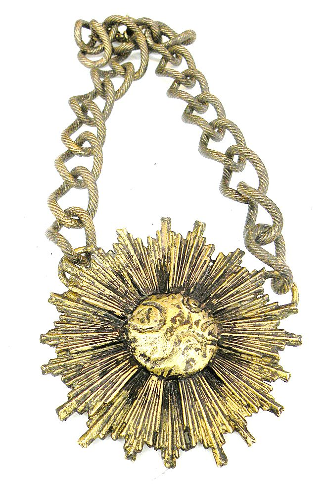 ALEXIS KIRK Giant Sun Disc Pendant Necklace