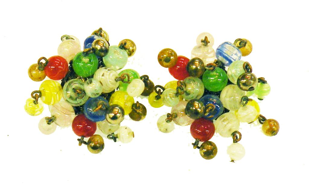 Made in Japan Funky Colored Popping Bead Earrings