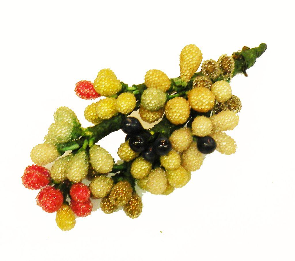 Sugar Bead Multi Color Floral Bouquet Brooch