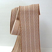 Calvin Klein Long Scarf.  Brown & Cream.  As New Condition.