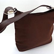 Salvatore Ferragamo Designer Purse.  Chocolate Brown.  As New Condition.  Serial Numbered.