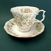 Royal Albert  Bone China.  Green Velvet Pattern of Rose Chintz Series.  As New Condition.