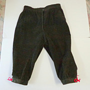 German Hiking / Walking Knickers / Pants.  Olive Corduroy.  Quality +++.  Mint Condition.