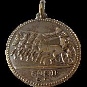 Pendant.  Replica Ancient Roman Coin.  Silver-plate.