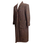 Genuine Harris Tweed Custom Made Ladies Coat.  Superb Quality & Fabric.  Mint Condition.