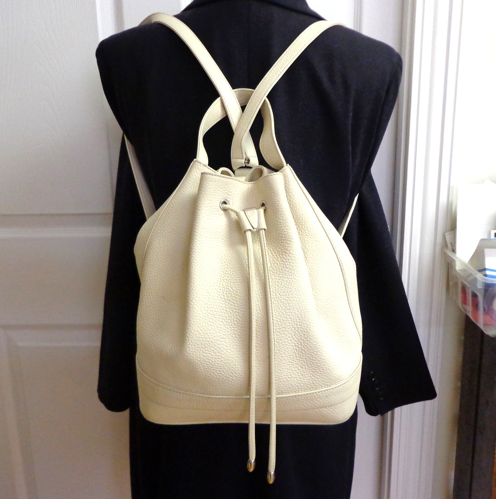Genuine Leather Backpack Purse. Danier Top Quality. Cream. Mint ...