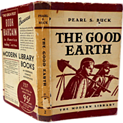 The Good Earth by Pearl S. Buck.  Early 1933 Ed.  Modern Library.  VG Condition. - Red Tag Sale Item