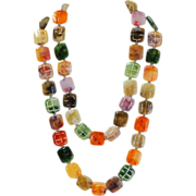 Lucite Double Necklace.  Wear 1 or 2.  Colorful.  Unusual.  Perfect Condition.