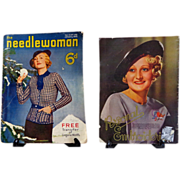 1935 Needlewoman English Magazine.  Fashion. Patterns.  Ads.