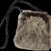Rabbit Fur Purse.  Strapped.  A. Brod Fashion Accessories.  Mint Condition.
