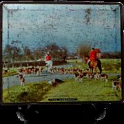 1939- 1945 Sharpe & Sons Toffee Tin.  Title: The Huntsmen.