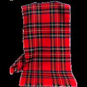 100% Wool ROYAL STEWART Tartan Scarf.  As New Condition.